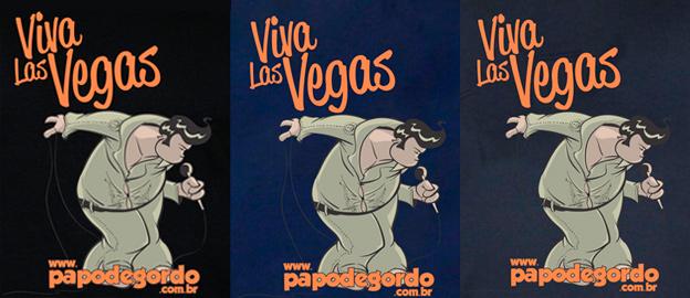 Camiseta Papo de Gordo - Viva Las Vegas