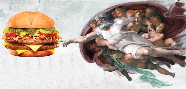 A criação do sanduíche