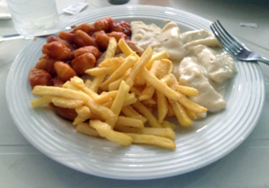 Meu primeiro almoço na Campus Party 2013