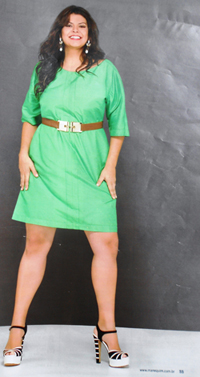 Flávia Guedes estrela ensaio plus size na revista Manequim (foto: Lamb Taylor/Manequim)