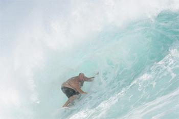 Jimbo Pellegrine, um surfista com quase 200 quilos